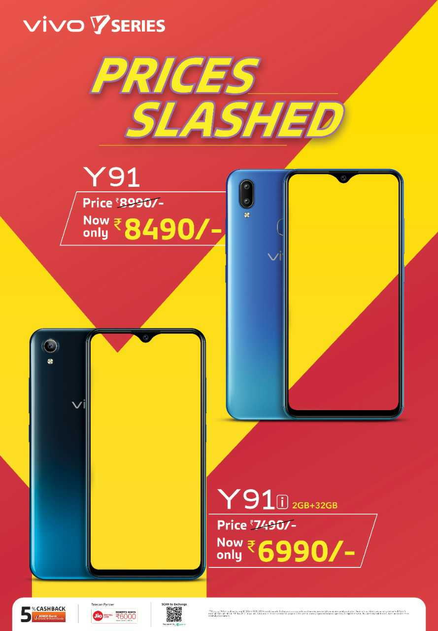 Vivo Y91 prices slashed. Image; Vivo