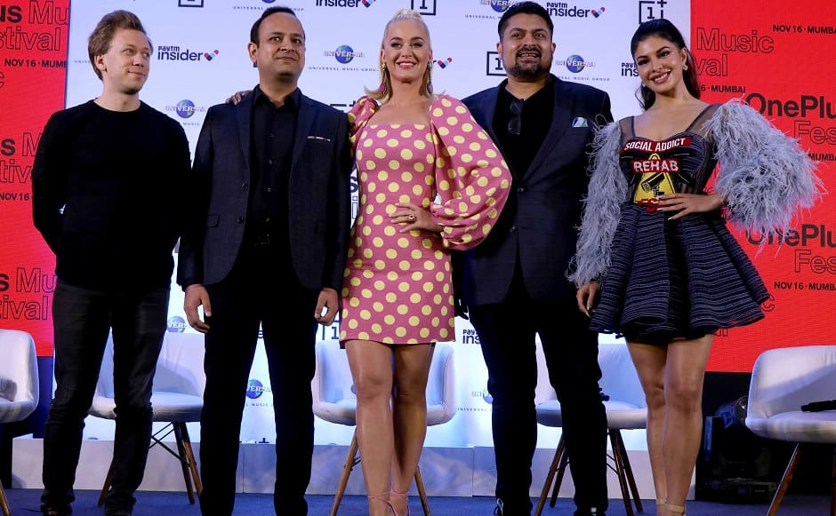Katy Perry arrives in Mumbai to headline the OnePlus Music Festival on 16 November | Image courtesy - Sachin Gokhale
