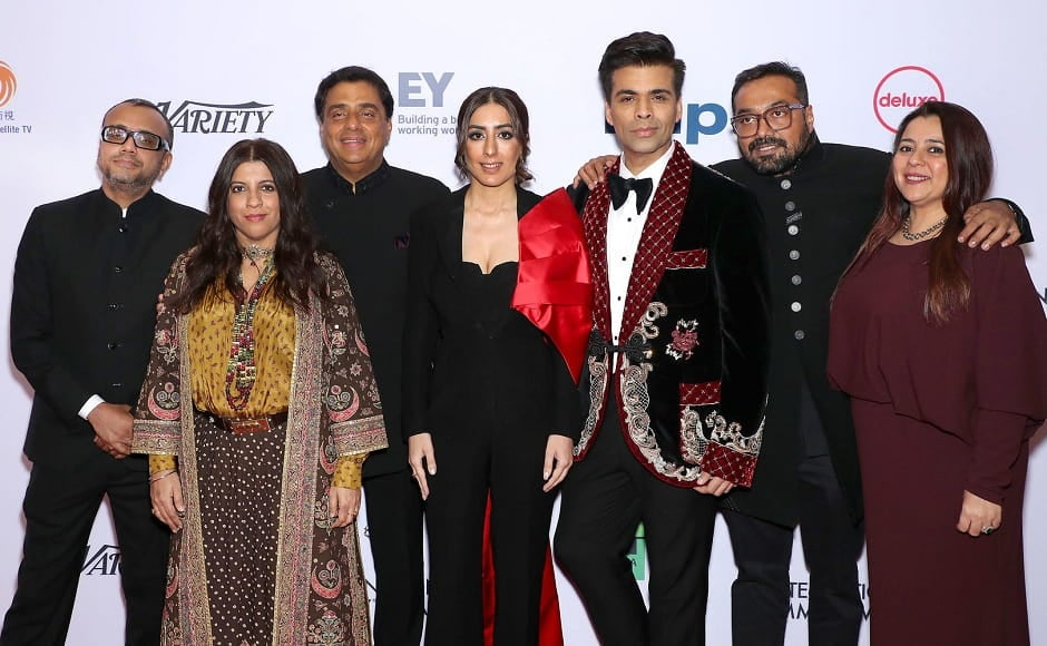 Lust Stories team posing at the red carpet of the International Emmy Awards 2019 | Netflix