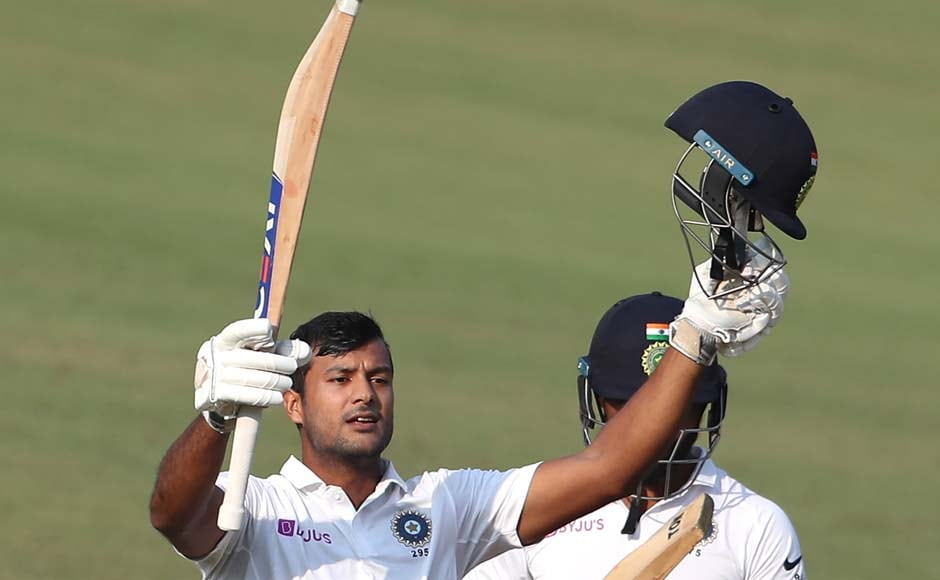 Mayank Agarwal scores career-best 243 on Day 2 as India stay on course for mammoth total