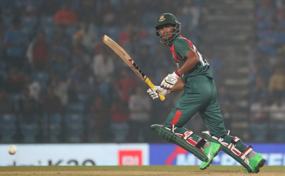 Mohammad Naim's knock of 81 was the only positive takeaway for Bangladesh in their run chase as nine of their 11 players collapsed for single figures. AP