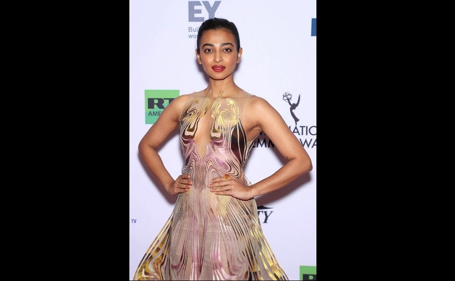 Radhika Apte opted for a lazercut Iris van Herpen dress with minimal accessories for the ceremony | Netflix
