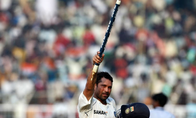 One for the bleeding hearts: Tendulkar's match-winning ton in Chennai lifted the national mood after the Mumbai attacks of 26/11. File/AFP