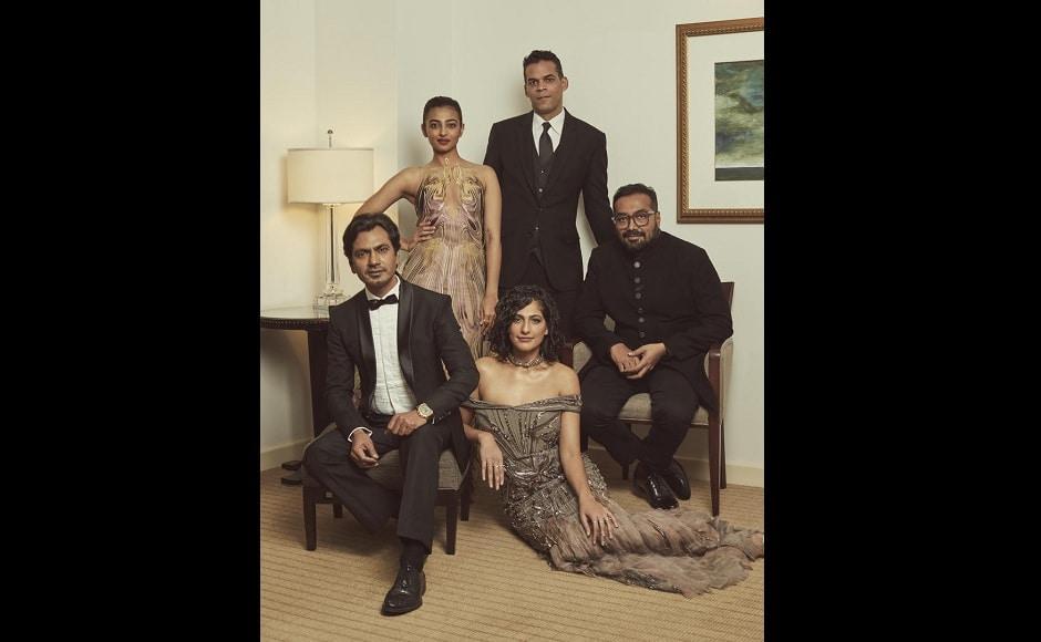 Sacred Games actors Nawazuddin Siddiqui, Radhika Apte and Kubbra Sait pose with the directors Anurag Kashyap and Vikramaditya Motwane | Netflix