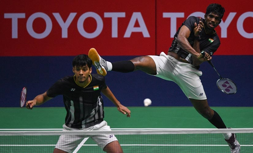 Satwiksairaj Rankireddy and Chirag Shetty in action. AFP