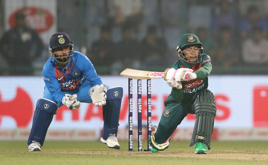 Bangladesh's Mushfiqur Rahim hit an unbeaten 60 off 43 balls to help his side cross the victory line. His innings included 8 fours and 1 six. AP