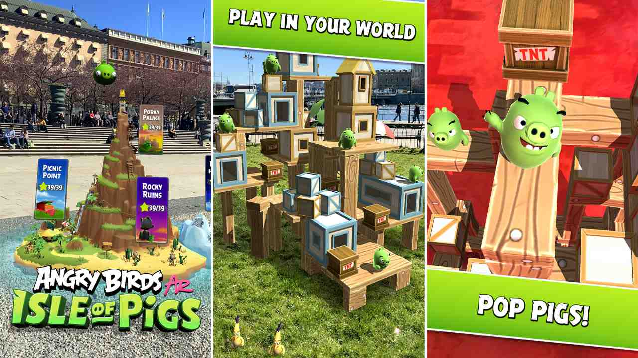 Angry Birds AR: Isle of Pigs augmented reality game finally drops on Android