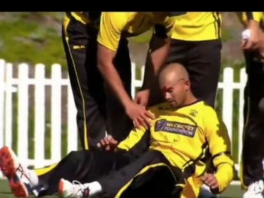 Watch: Australian all-rounder Ashton Agar left a bloody mess while trying to take brother Wes's catch in domestic fixture