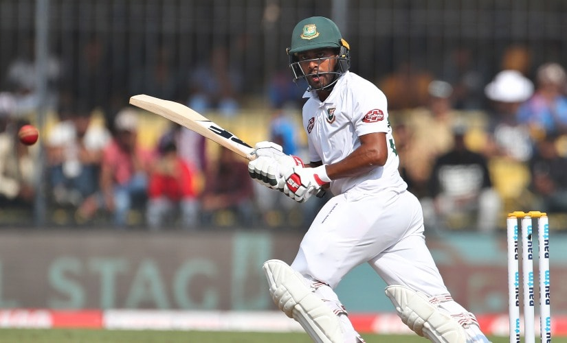 Bangladesh's Mehidy Hasan bats during Day 3 of the first Test against India. Hassan scored 38 off 55 deliveries in the second innings. AP
