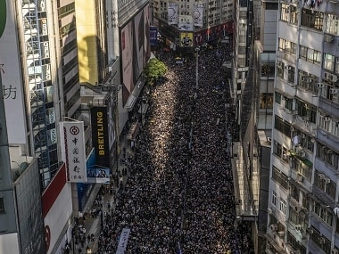 Largest Hong Kong protest in weeks stretches several miles, signals movement is undeterred by police crackdown