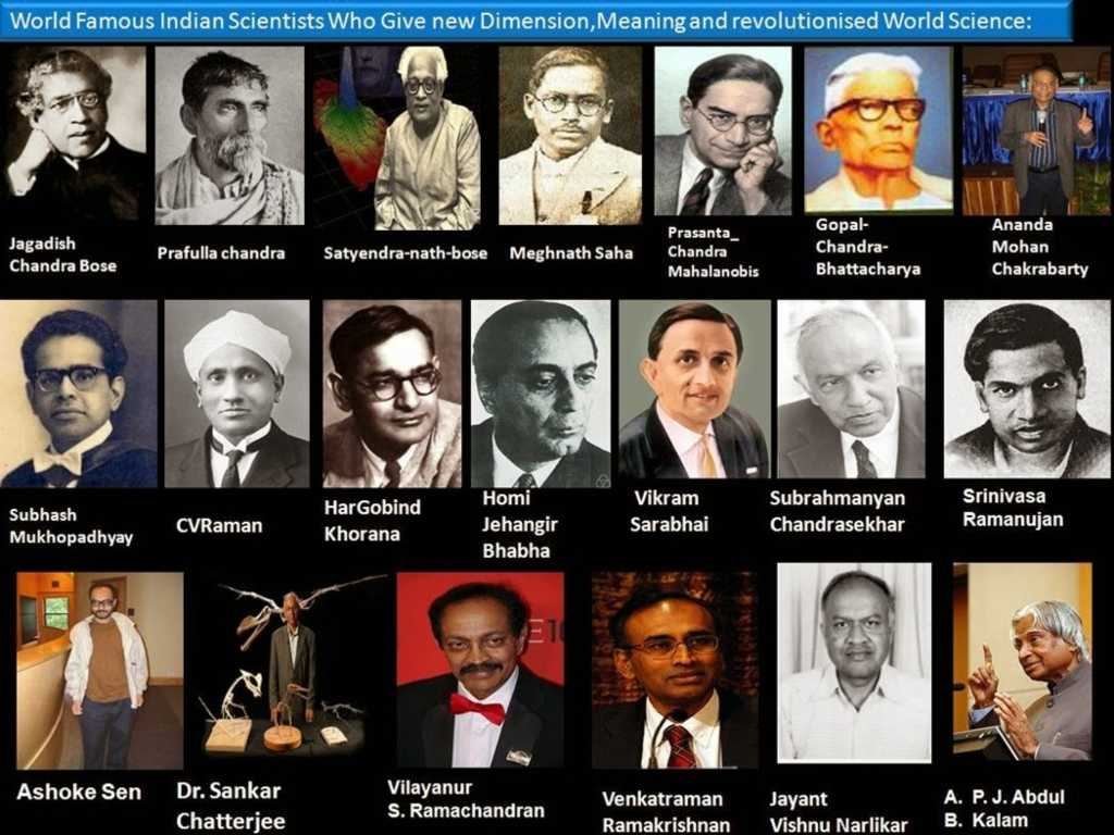 Internationally-acclaimed Indian scientists (it just so happens that all of them are men). Image: Manash Kundu Science Blog