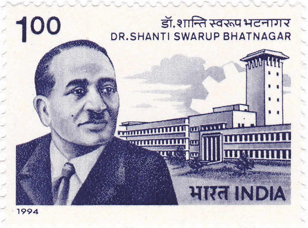 Shanti Swaroop Bhatnagar on the postage stamp. Image credit: Wikipedia
