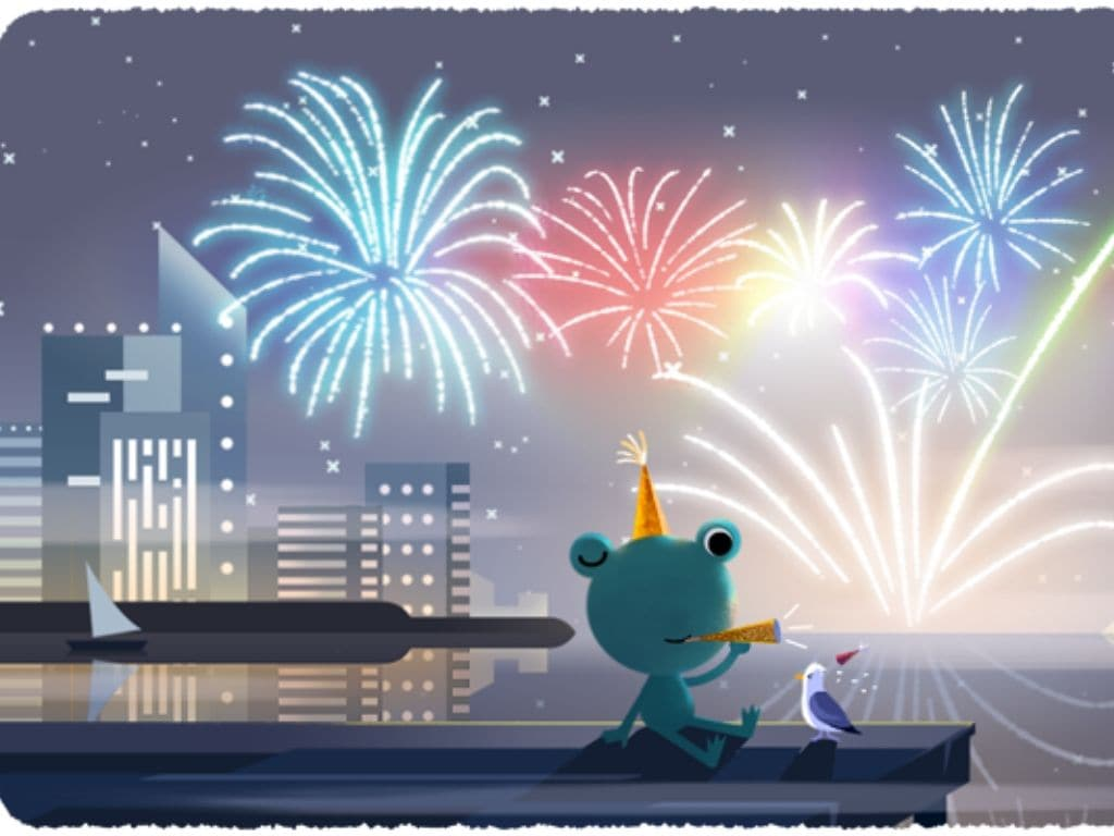 New Year 2020: Google Doodle Celebrates New Year Eve With Fireworks
