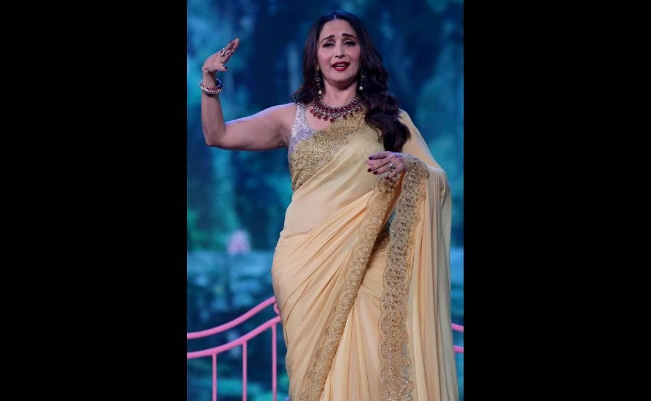Actor and producer Madhuri Dixit Nene also stepped on to the stage at Umang 2020. Photo: Sachin Gokhale/ Firstpost