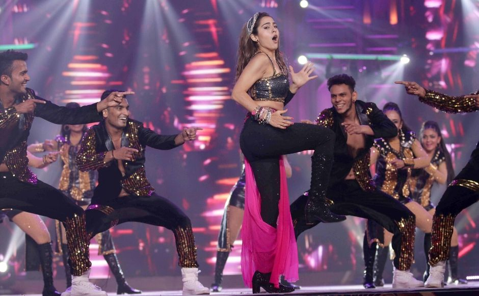 Umang 2020, the annual cultural festival organised for the Mumbai police was a star-studded affair with several actors from Hindi cinema taking to the stage in entertaining performances. Among them was Sara Ali Khan, who danced to some of her famous numbers at the festival. Photo: Sachin Gokhale/ Firstpost