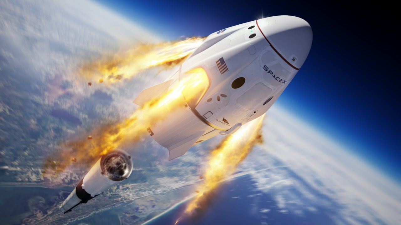 SpaceX Crew Dragon in space. Image credit: Twitter