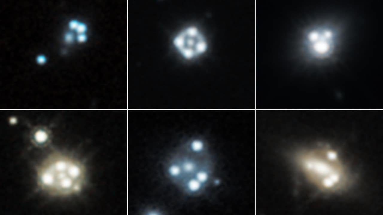 Tiny, cold clumps of dark matter seen by Hubble backs key prediction in dark matter physics