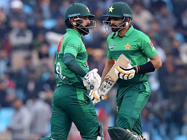 Pakistan vs Bangladesh: Babar Azam, Mohammad Hafeez hit unbeaten fifties to help hosts beat Tigers in second T20I, seal series