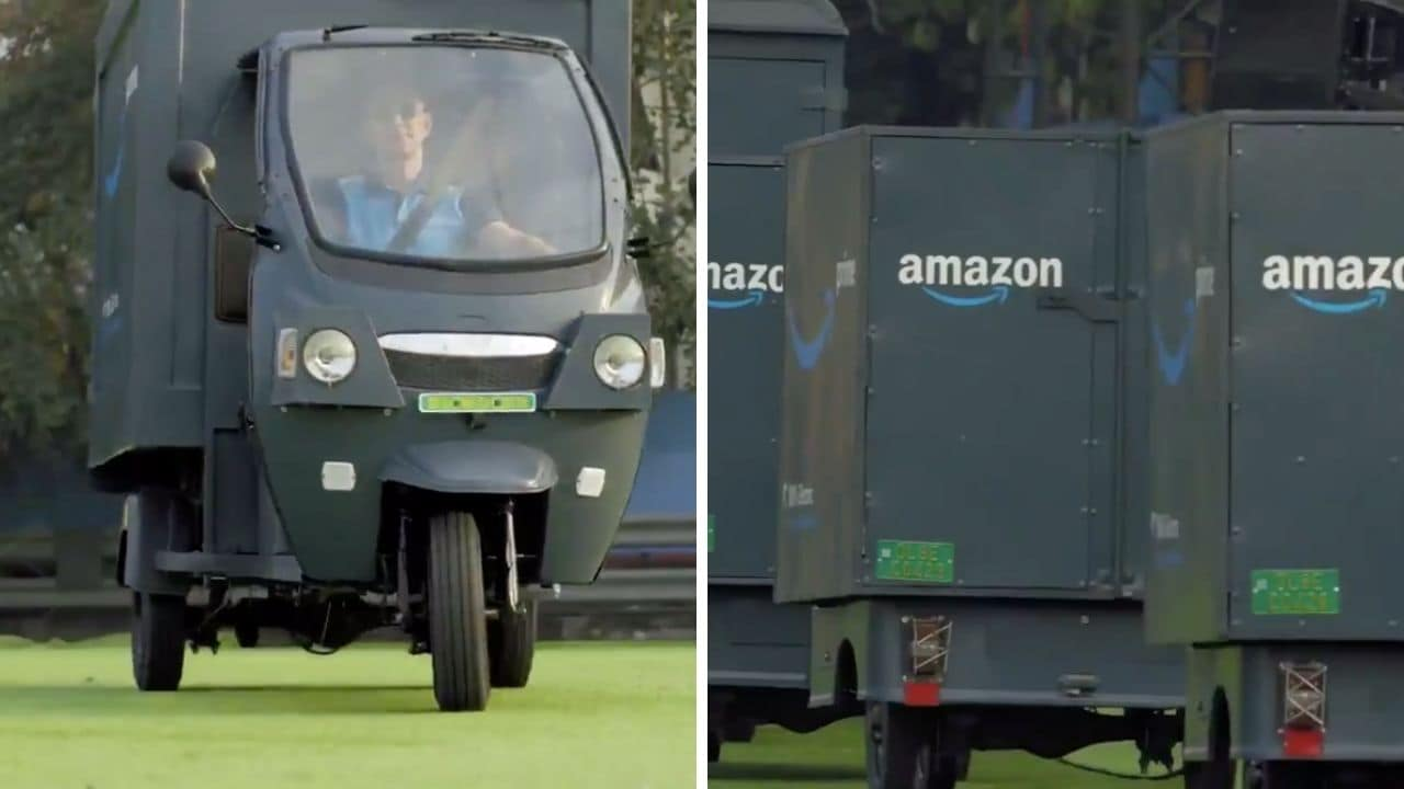 Jeff Bezos rides electric rickshaw; Amazon rolls out new vehicle in India
