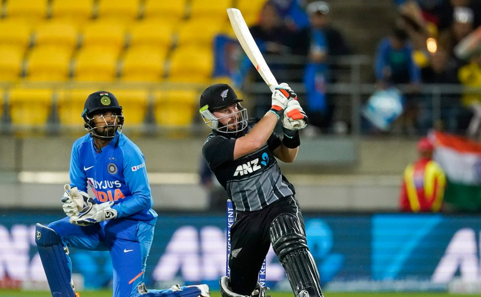 Tim Seifert smashed 59 off 37 balls to get New Zealand close to the finish line until he was dismissed in the 20th over of the chase. AP