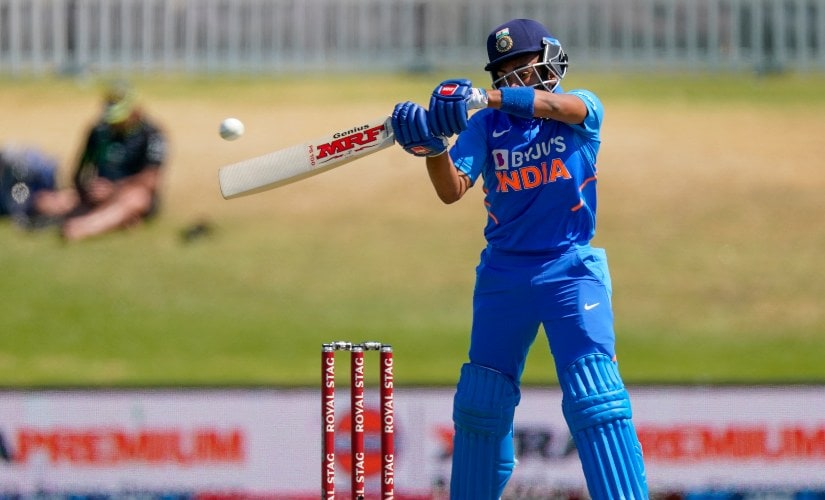 Prithvi Shaw scored a brisk 40 off just 42 balls while opening the batting for India in the third ODI between India and New Zealand. AP