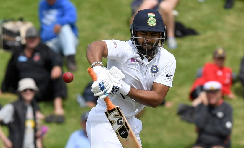 India's Rishabh Pant was not out on 10 from 37 balls as India limped to 122/5 at the close of play on Day 1 of the first Test between India and New Zealand. AP