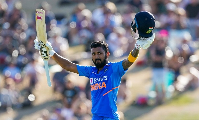 India's KL Rahul scored his fourth ODI century, before being dismissed for 112 and helping India to a total of 297/6, in the third ODI between India and New Zealand. AP