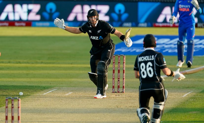 New Zealand's Martin Guptill scored a quickfire 66 off just 46 balls in the third ODI between India and New Zealand. AP
