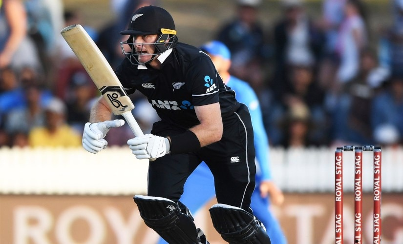 New Zealand's Martin Guptill scored 32 from 41 balls in the first ODI between India and New Zealand at Seddon Oval in Hamilton, New Zealand. AP