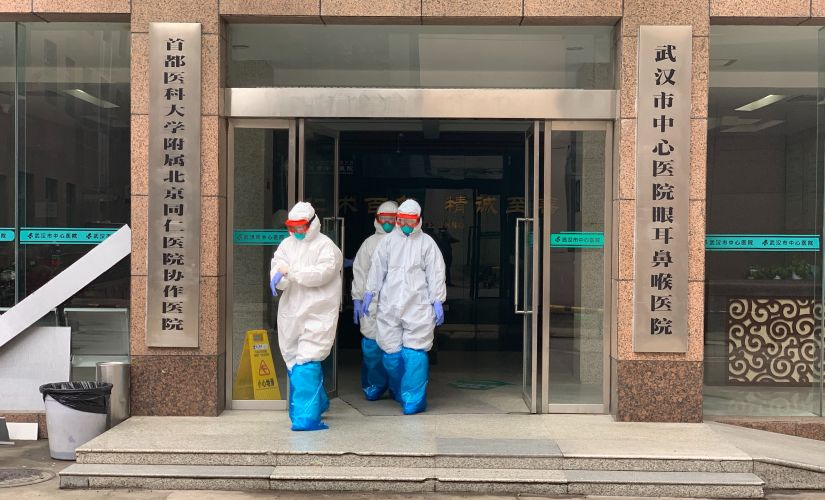 An entrance to the Wuhan City Central Hospital, in Wuhan, China, the epicenter of the coronavirus epidemic. Chris Buckley © 2020 The New York Times