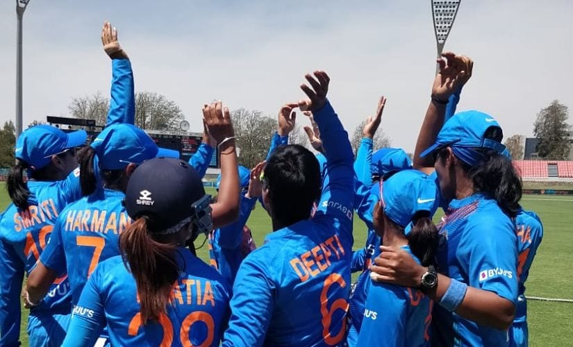 India will play their first match on 21 February against Australia. Image courtesy: Twitter/@BCCIWomen