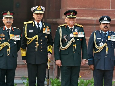 General Bipin Rawat-led Department of Military Affairs to have three joint secretaries from Army, Navy and Air Force - Firstpost