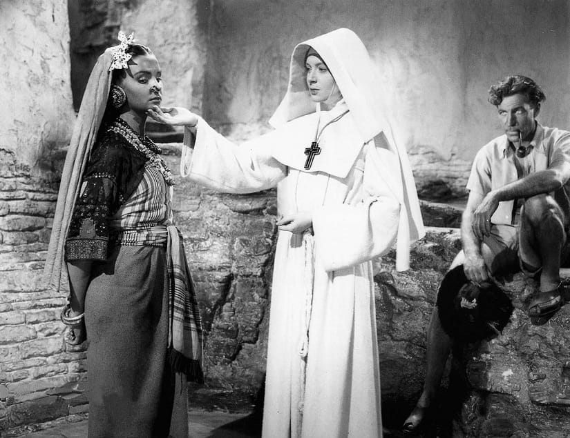 The story of Black Narcissus, 1947, is set in India. But its a film about white people and their feelings