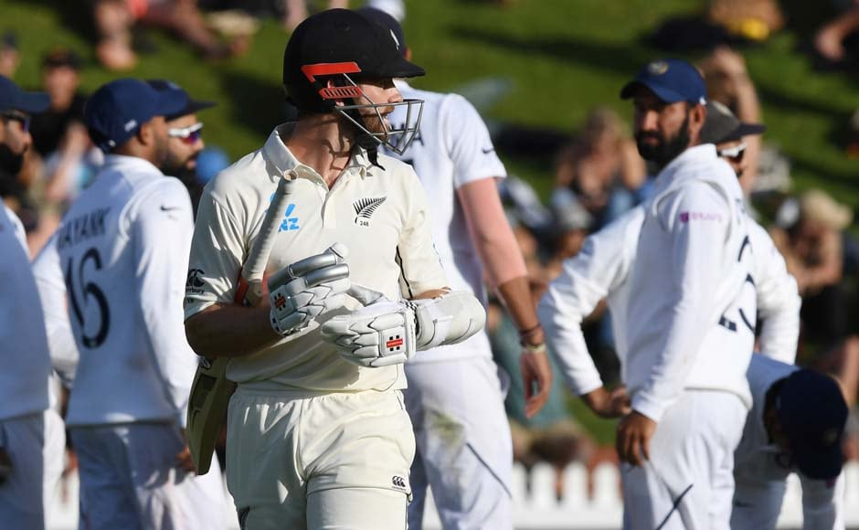 New Zealand managed to keep the scoreboard moving and Williamson looked set to bring up his century. However, Mohammed Shami had other plans as he went on to send Williamson (89) back to the pavilion in the 63rd over, reducing Kiwis to 185/4. AP