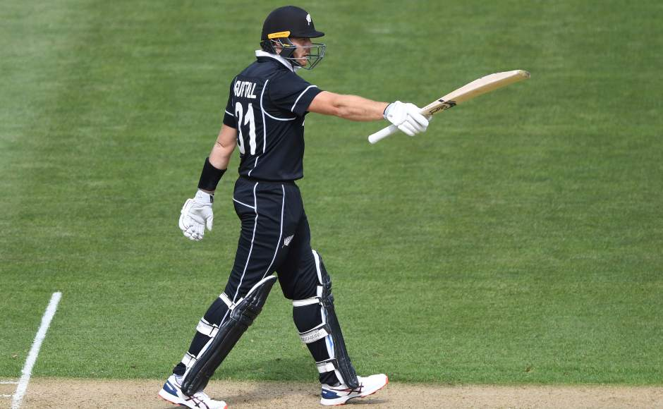 Martin Guptill (79) struck his 36th ODI fifty on Saturday. He was involved in a 93-run stand for the opening wicket with Henry Nicholls. AP