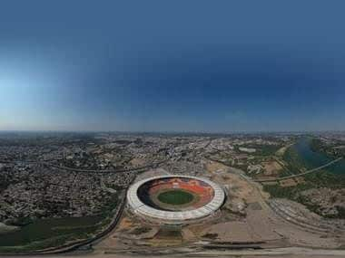 Motera Stadium: Aerial view of world's largest cricketing facility with more than 1,10,000 seating capacity