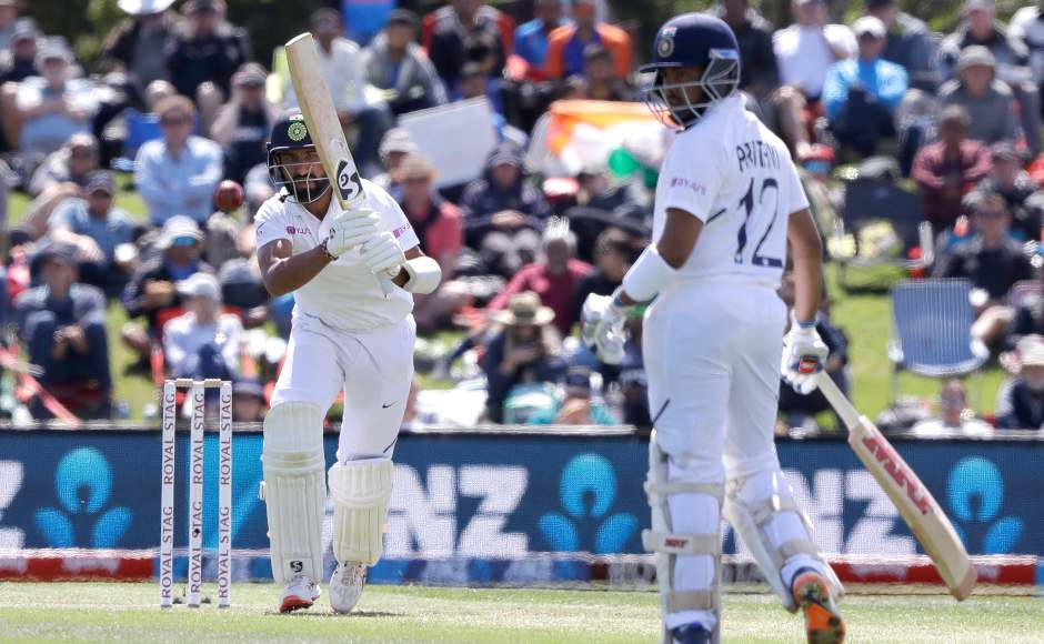 New Zealand won the toss and asked India to bat first. After losing Mayank Agarwal, Prithvi Shaw and Cheteshwar Pujara built a 590-run stand for the second wicket. AP