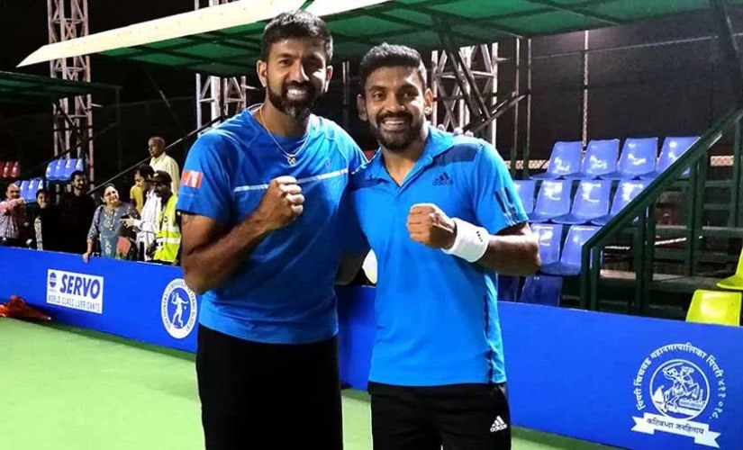Rohan Bopanna and Divij Sharan are slated to carry India's hopes in doubles in Tokyo Olympics. File image: Twitter @MaharashtraOpen