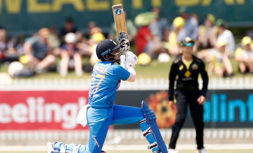 Shafali Verma slammed 49 off 28 as India made a record chase against Australia. Photo @ICC