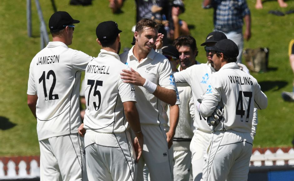 Tim Southee, Trent Boult bowl New Zealand to 10-wicket win against India, capping 100 victories in Test cricket