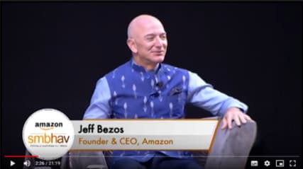 When Jeff Bezos, Founder and CEO, Amazon was inspired by Indian SMBs