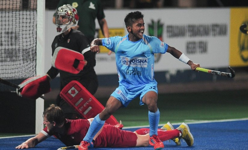 Vivek Sagar Prasad is the second youngest player to debut for India, at 17 years, 10 months and 22 days. Image credits @TheHockeyIndia