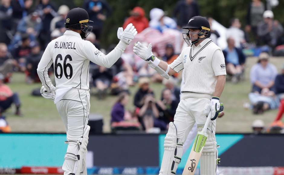 Openers Tom Blundell and Tom Latham built a 103-run stand with both the batsmen scoring fifties. AP