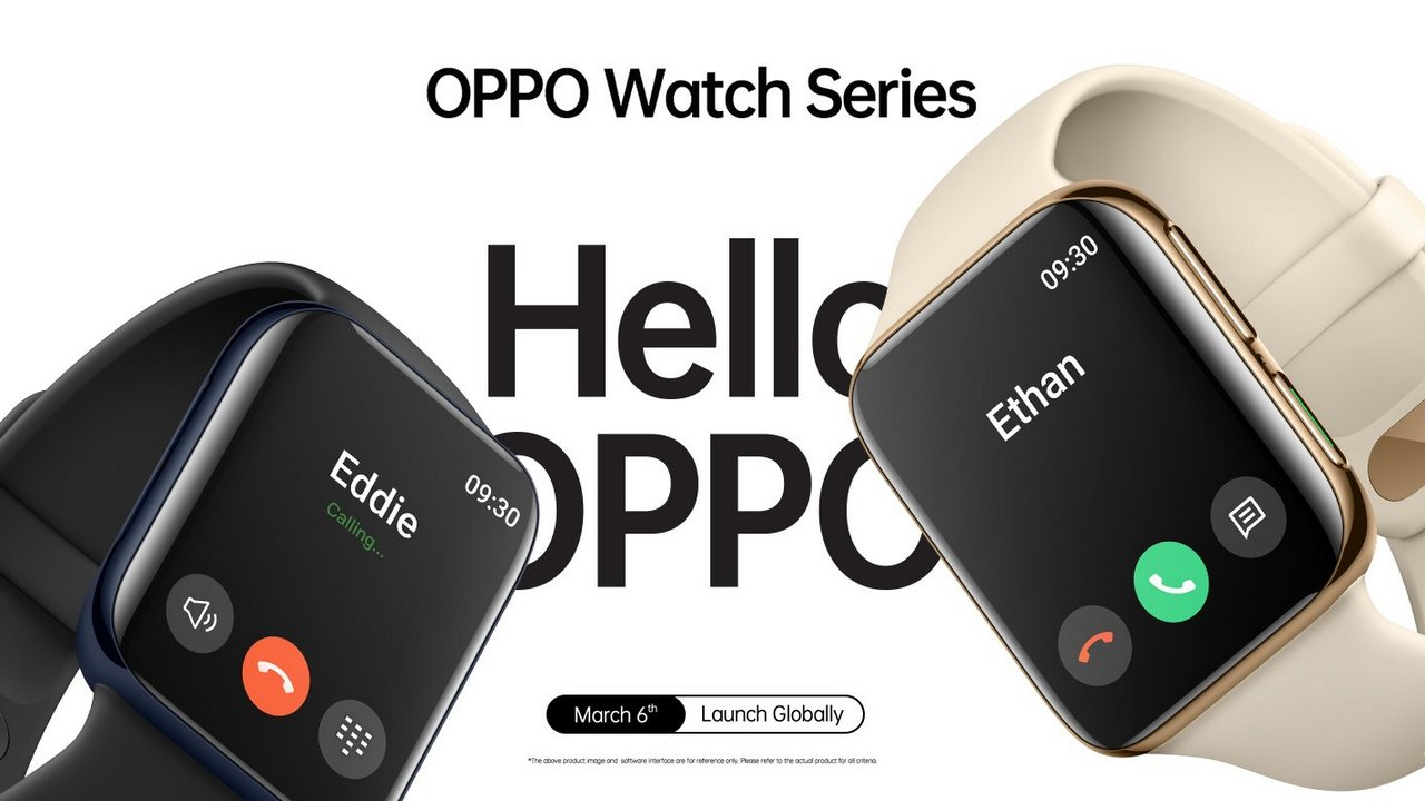 An Oppo swartwatch is set to debut in China on 6 March, and yes, it does look like the Apple Watch