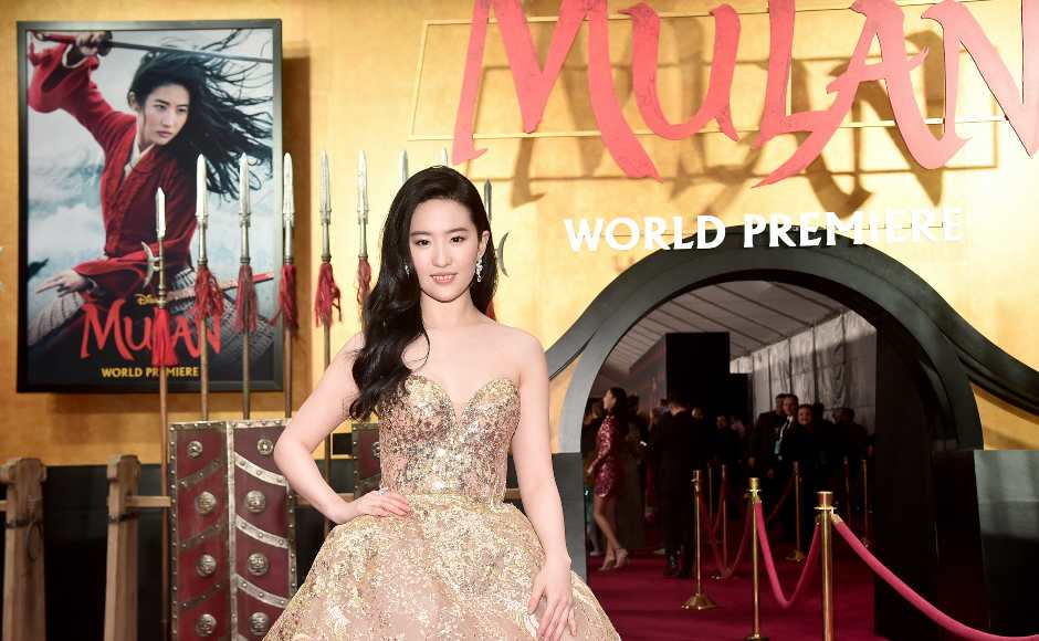Mulan's lead actress Liu Yifei in Elie Saab's 2019 Haute Couture range at the premiere