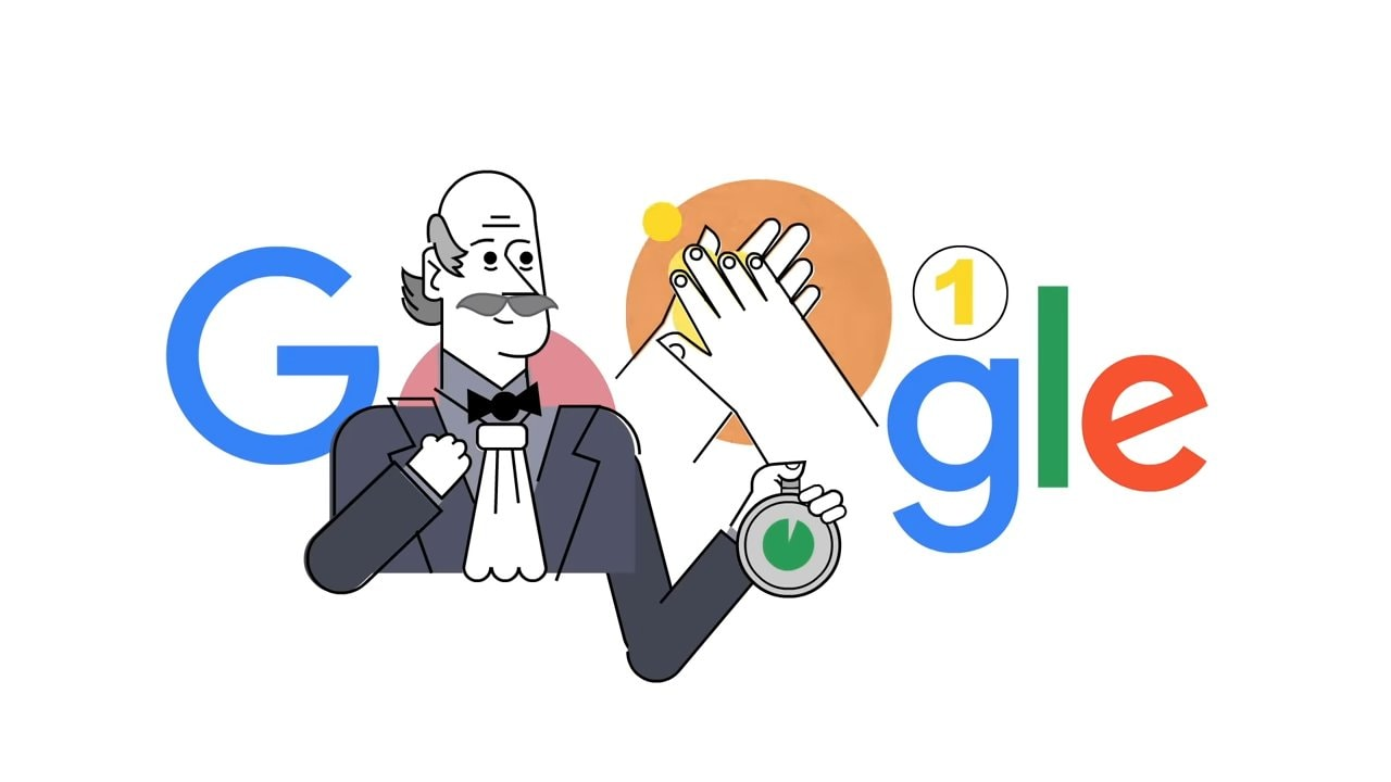 Ignaz Semmelweis, the first physician to talk about handwashing benefits, honoured in today's Google Doodle