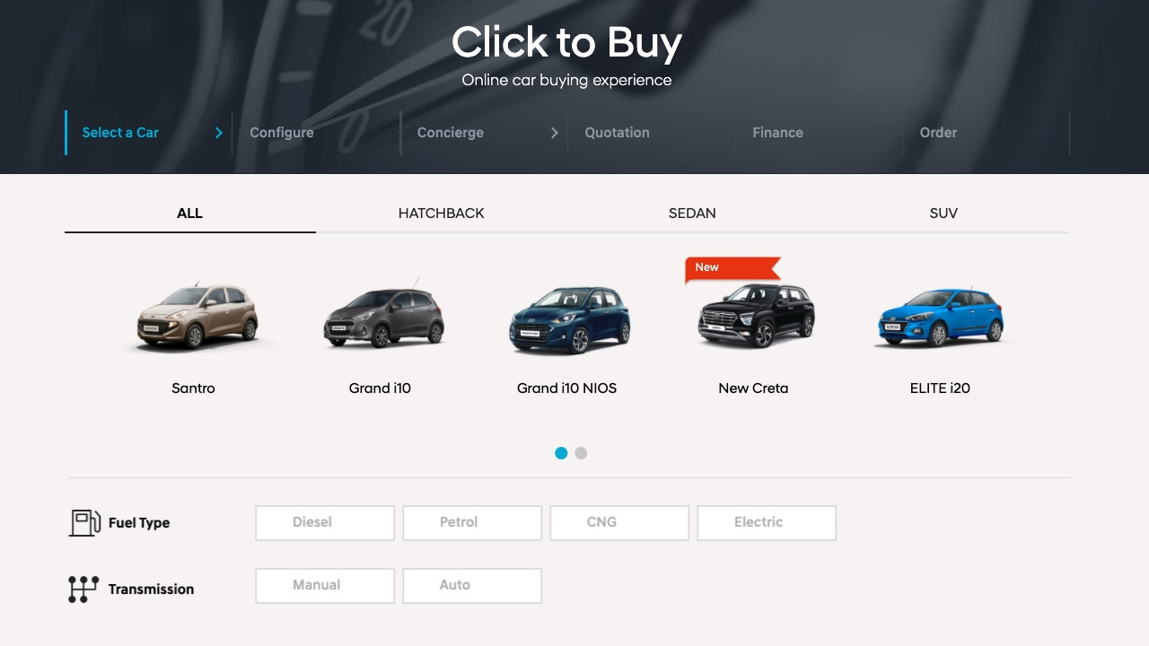 You can now buy a Hyundai car online and have it delivered anywhere in India thanks to Click to Buy