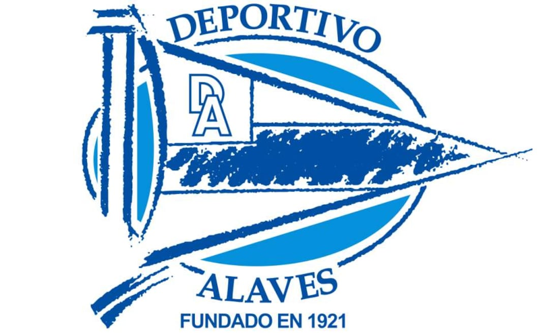 Founded in 1921, Alaves were originally known as Sport Friends Club before changing their name later that year to its current form as shown on the crest. A large flag adorns the central part of the badge tying into the characteristics of the club; sacrifice, dedication and commitment.