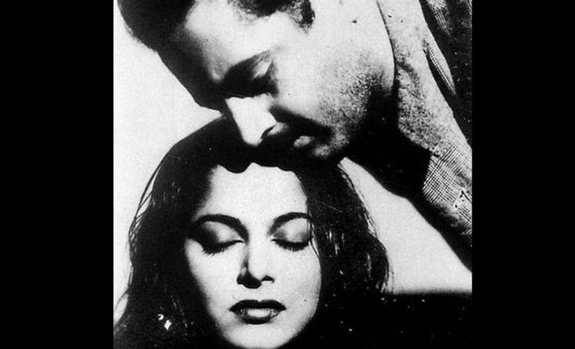 Guru Dutt and Waheeda Rehman in Pyaasa (1957)
