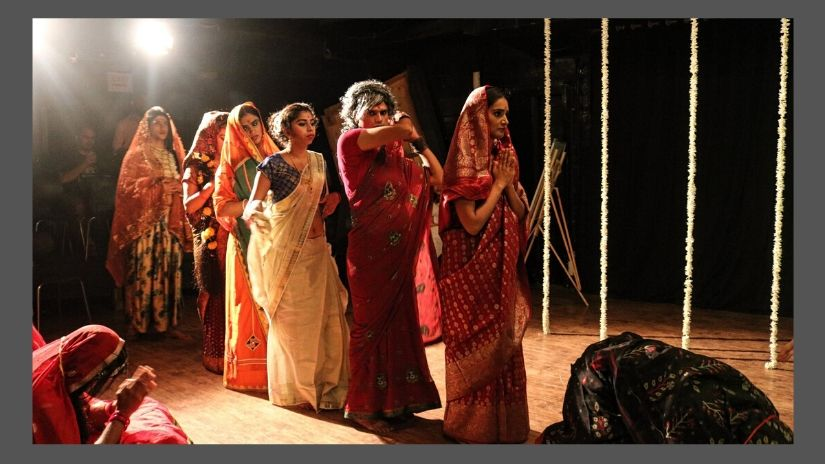 The ensemble in Amey Mehta's One Night Only. Photo courtesy: Akvarious Productions